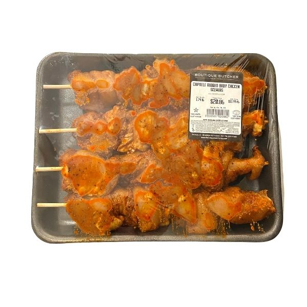 Chipotle Marinated Baby Chicken Skewers $11.99/lb (1.6 lbs - 2.4 lbs)