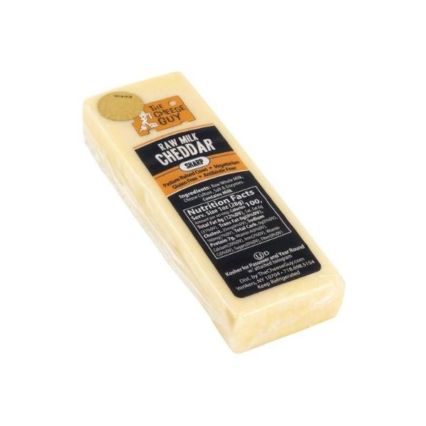 The Cheese Guy Raw Milk Sharp White Cheddar Cheese | Dairy Cheese & Refrigerated | Kosherkart