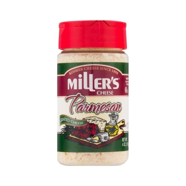 Miller's Grated Parmesan Cheese | Dairy Cheese & Refrigerated | Kosherkart