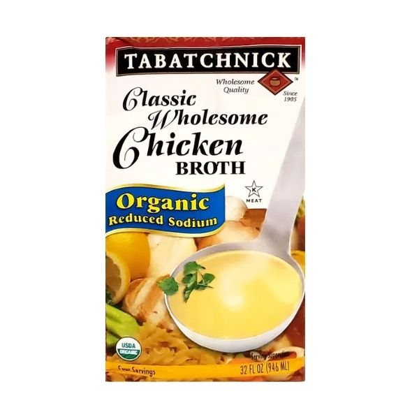 Tabatchnick Organic Reduced Sodium Chicken Broth | Pantry Staples | Kosherkart