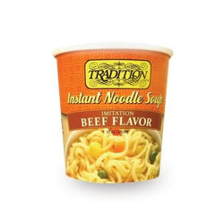 Tradition Beef Flavor Instant Noodle Soup Cup