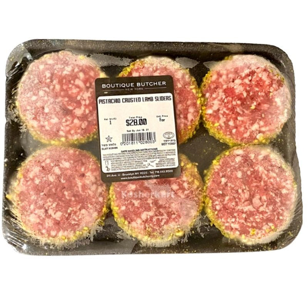 Boutique Butcher Pistachio Crusted Lamb Sliders 6pk (frozen)