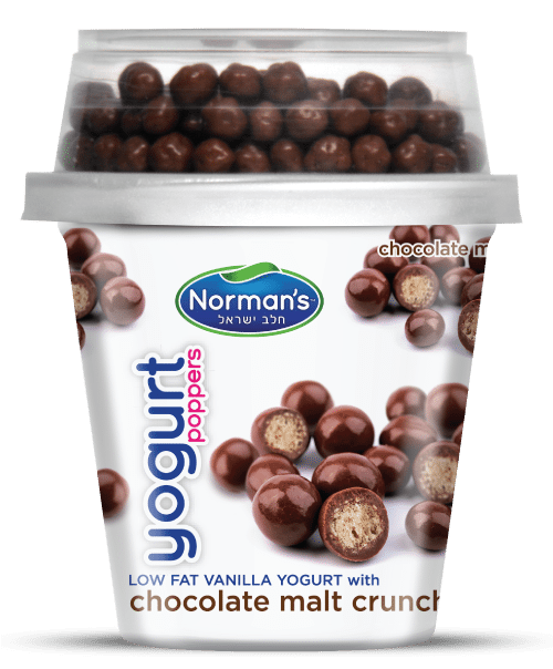 Norman's Poppers Chocolate Malt Crunches Yogurt