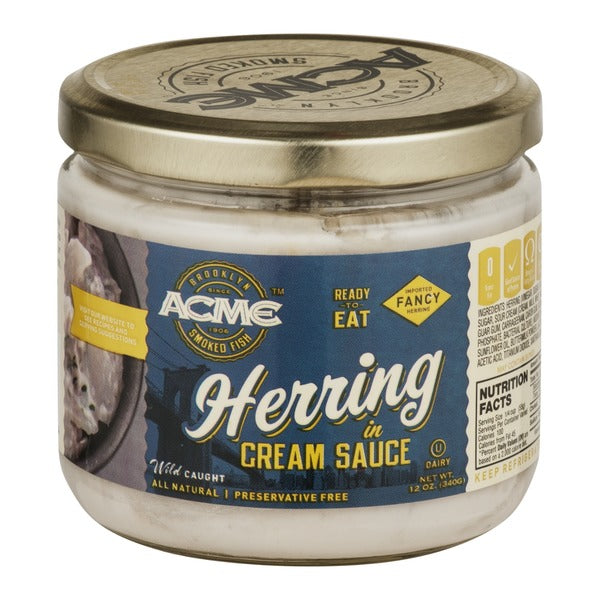 Acme Herring in Cream Sauce - Dairy | Appetizing & Smoked Fish | Kosherkart
