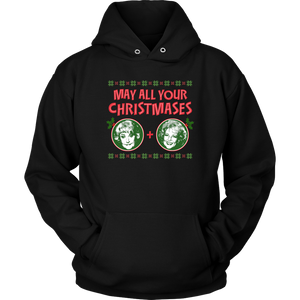 Golden Girls May All Your Christmases Bea White Hoodie