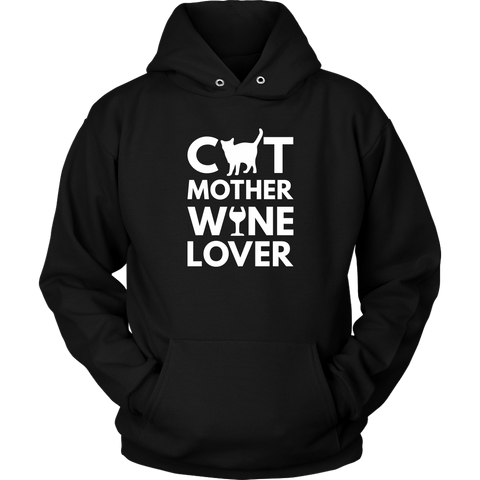 Cat Mother Wine Lover Hoodie