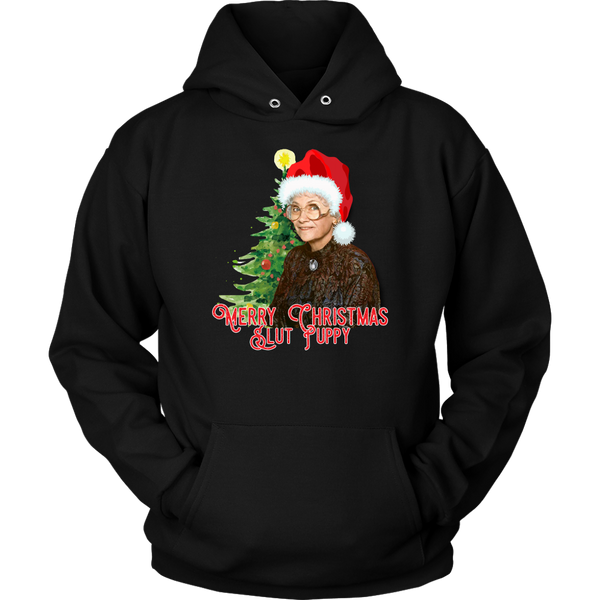 Golden Girls Merry Christmas Slut Puppy Hoodie