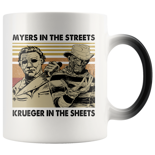 Myers In The Streets, Krueger In The Sheets Magic Mug