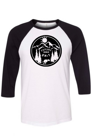 Explore Some Shit Raglan Tee