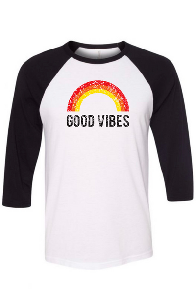 Good Vibes Raglan Tee