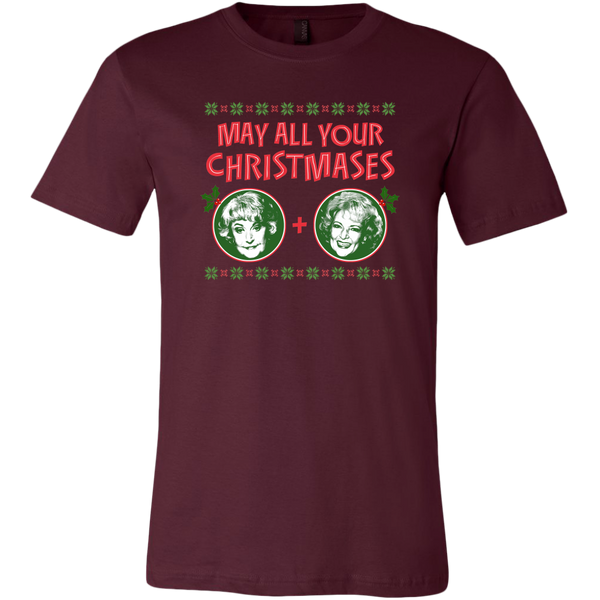 Golden Girls May All Your Christmases Bea White T-shirt