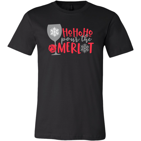 Ho Ho Ho Pour The Merlot T-shirt