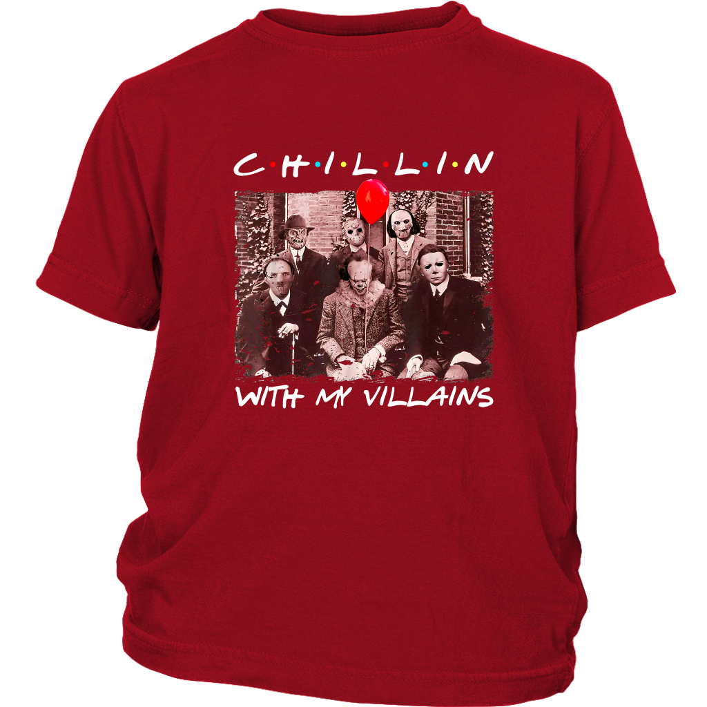 Chillin With My Villains Kids T-shirt