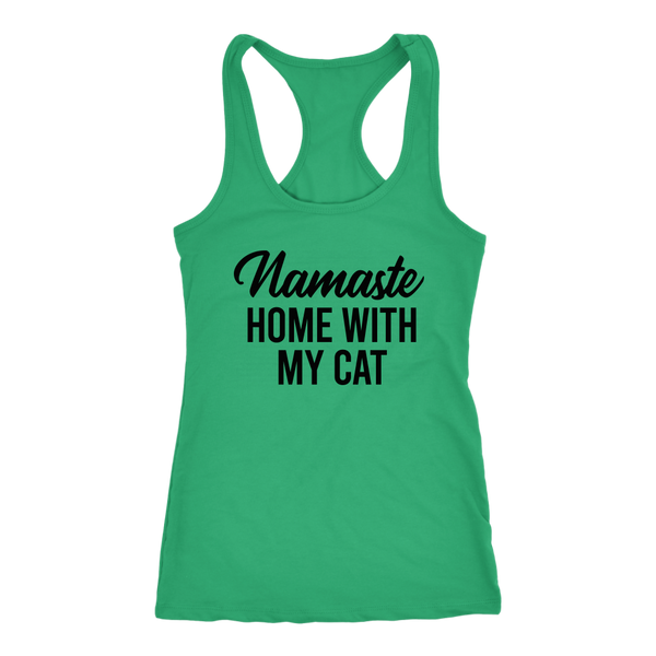 Namaste Home With My Cat Tank Top