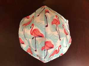 3-ply reusable mask - Adult Size - Flamingo