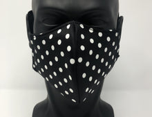 Load image into Gallery viewer, 3-ply reusable mask - Adult Size - Polkadot