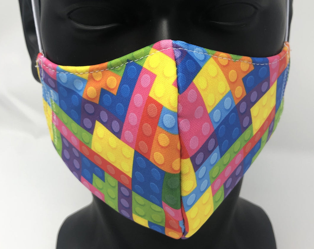 3-ply reusable mask - Child Size - LEGO