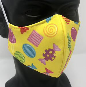 3-ply reusable mask - Child Size - CANDY