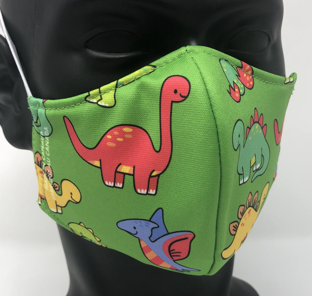 3-ply reusable mask - Child Size - DINO