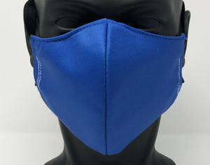 3-ply reusable mask - Adult Regular Size - SOLID BLUE