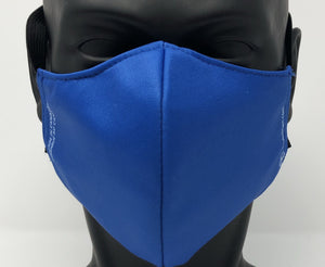 3-ply reusable mask - Adult Large Size - SOLID BLUE