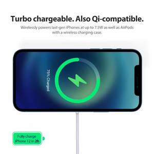 15W MagSafe-Compatible Magnetic Wireless Charger for iPhone 12, iPhone 12 Pro, and iPhone 12 Mini - Omniversus