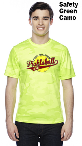 Pickleball Life Baseball Style Unisex Color Print Champion Camo Colors Athletic Workout Tee