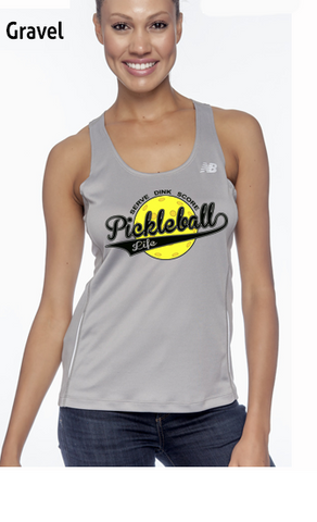 Pickleball Life Baseball Style Ladies' Color Print New Balance Performance Quick Dry Singlet Tank