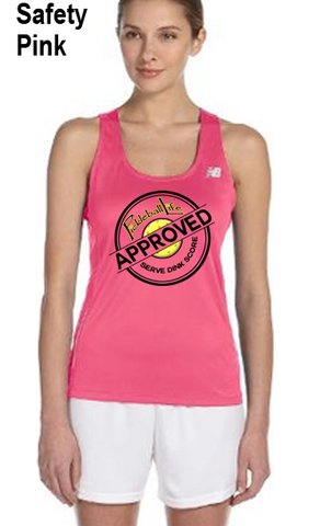 Pickleball Life Approved Ladies' New Balance Performance Quick Dry Singlet Tank