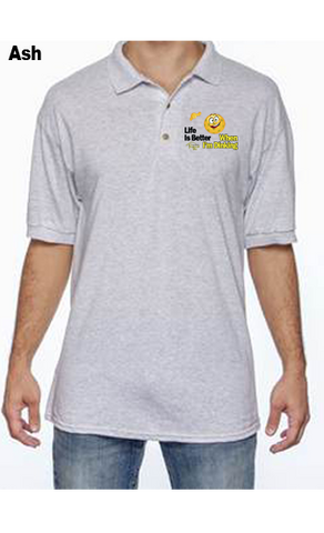 Life is Better When I'm Dinking 50/50 POLY/COTTON UNISEX POLO SHIRT