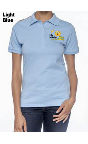 Life is Better When I'm Dinking 50/50 POLY/COTTON WOMEN'S POLO SHIRT