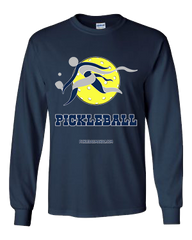 COLLEGE BLUE & GREY PICKLEBALL LONG SLEEVE SHIRT