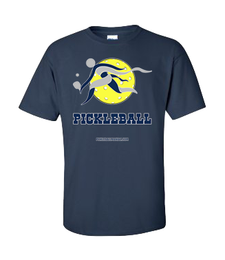 COLLEGE BLUE & GREY PICKLEBALL TEE