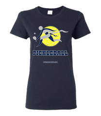 COLLEGE BLUE & GREY PICKLEBALL WOMEN'S TEE
