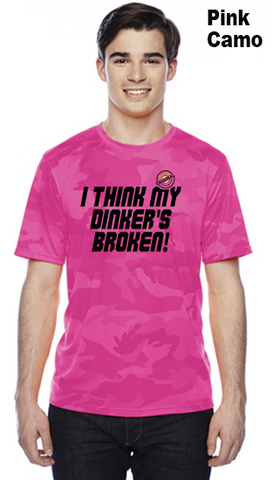 I Think My Dinker's Broken Unisex Champion Camo Colors Athletic Workout Tee