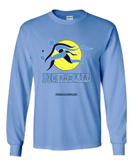 COLLEGE LIGHT BLUE & BLUE PICKLEBALL LONG SLEEVE SHIRT