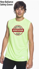 Distressed Print - Certified Pickleball Addict Men's New Balance Ndurance Sleeveless Tee