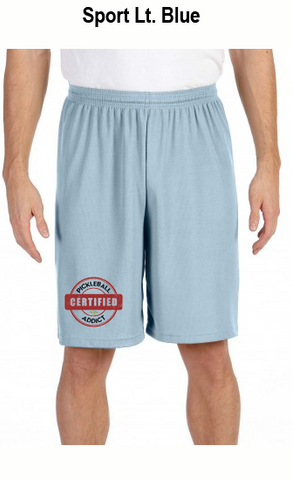 Distressed Print - Certified Pickleball Addict Men's All Sport for Team 365 Men's Performance Short