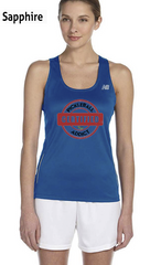Distressed Print - Certified Pickleball Addict Ladies' New Balance Performance Quick Dry Singlet Tank
