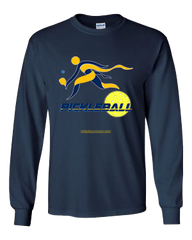 COLLEGE NAVY & GOLD PICKLEBALL LONG SLEEVE SHIRT