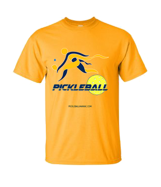 COLLEGE NAVY & GOLD PICKLEBALL TEE