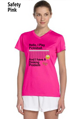 I Have A Dinking Problem Ladies' New Balance Ndurance Athletic V‑Neck Tee