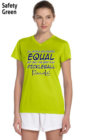 The Best People Play Pickleball Ladies' New Balance Ndurance Athletic V‑Neck Tee
