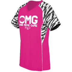 OMG, One More Game High Five Women's Evolution Print V-Neck Jerseys