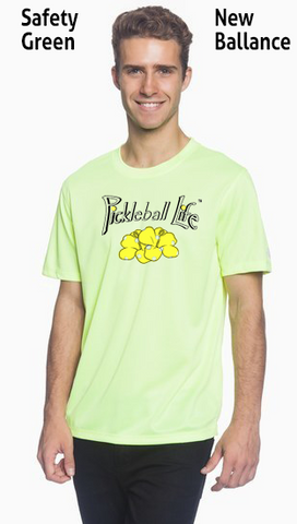 Pickleball Life Flower Men's New Balance Ndurance Athletic Workout Tee