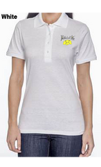Pickleball Life Flower 50/50 POLY/COTTON WOMEN'S POLO SHIRT