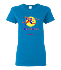 COLLEGE BLUE & ORANGE PICKLEBALL WOMAN'S TEE
