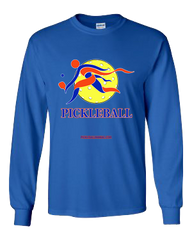 COLLEGE BLUE & ORANGE PICKLEBALL LONG SLEEVE SHIRT