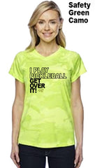 I Play Pickleball Get Over It Ladies Champion Camo Colors Athletic Workout Tee