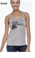 I Play Pickleball Get Over It Ladies' New Balance Performance Quick Dry Singlet Tank